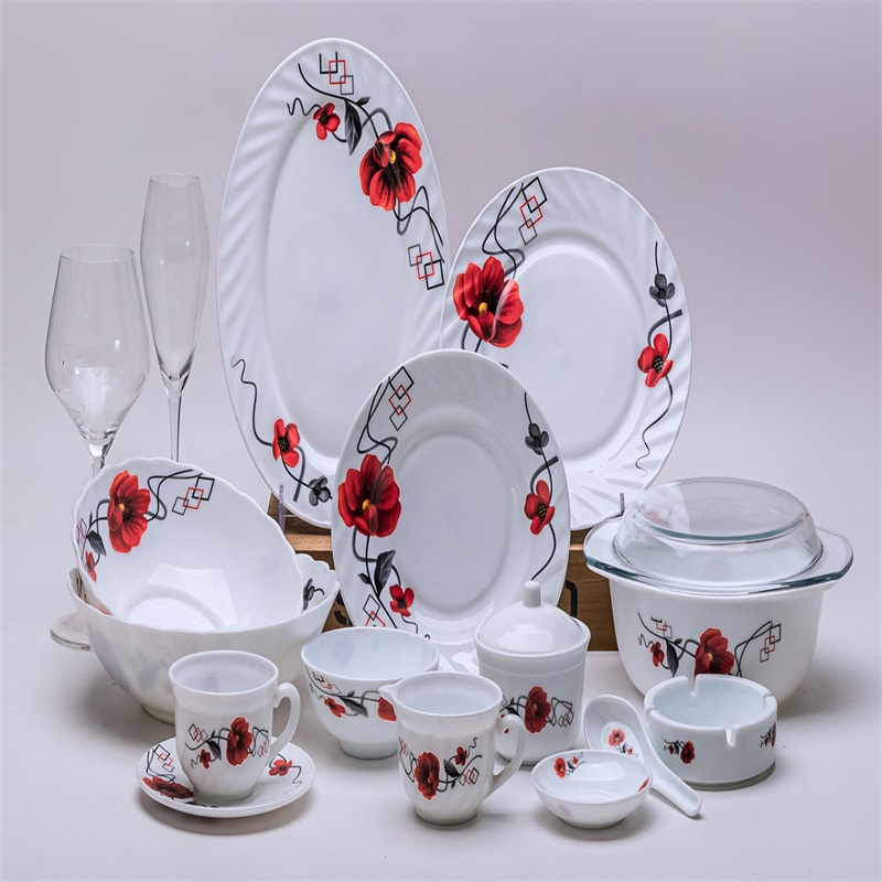58B   &  opal glass glassware dinner set